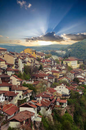 View of the town from the hilltop Fortress Tsarevets, Veliko Tarnovo, Bulgaria