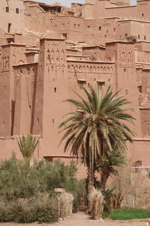 Mud brick buildings of the Ait ben Haddou,  Morocco, Africa Stock Photo