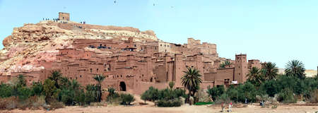 Mud brick buildings of the Ait ben Haddou,  Morocco, Africa Standard-Bild - 123130038