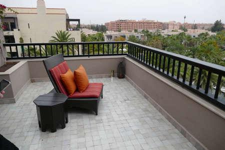 MARRAKECH, MOROCCO - FEB 18, 2019 - Sitting area in a luxury hotel, Four Seasons Hotel, Marrakech,  Morocco, Africa Reklamní fotografie - 123102989
