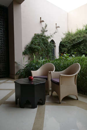 Sitting area in a luxury hotel, Four Seasons Hotel, Marrakech,  Morocco, Africa