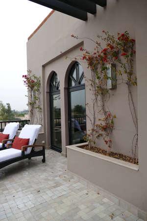 MARRAKECH, MOROCCO - FEB 18, 2019 - Sitting area in a luxury hotel, Four Seasons Hotel, Marrakech,  Morocco, Africa Reklamní fotografie - 123104561