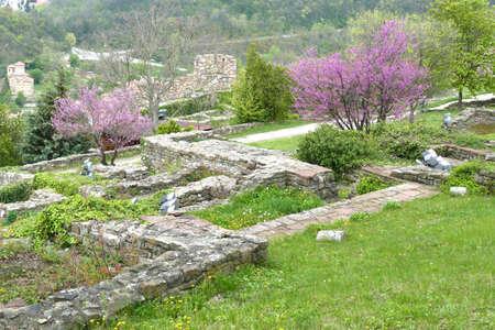 Medieval walls and ruins of the Fortress Tsarevets, Veliko Tarnovo, Bulgaria