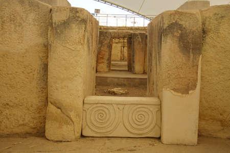 TARXIEN, MALTA - NOV 30, 2018 - neolithic temples of Tarxien, Malta Reklamní fotografie