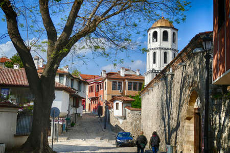 Bell tower in the old city of Plovdiv, Bulgaria