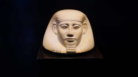 MUNICH - JUL 21, 2018 - Head of pharaoh, Egyptian Museum, Munich, Germany