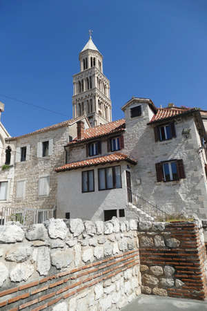 Late Gothic belltower of Cathedral of Saint Domnius, formerly Diocletian's mausoleum, Split, Croatia