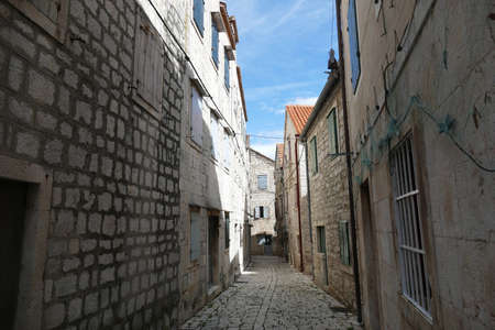 Narrow streets of Stari Grad, Hvar Island, Croatia