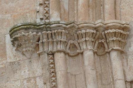 Baroque columns of Church of St Francis Assisi, Ostuni, Puglia, Italy 스톡 콘텐츠