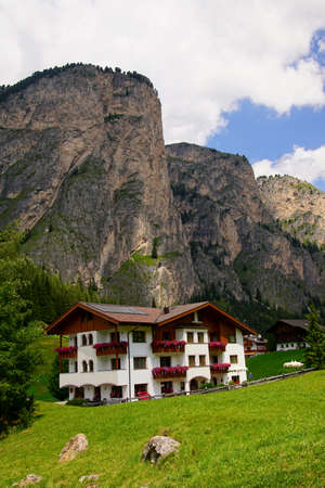 Alpine hotel in the Val Gardena, Selva - Wolkenstein, Italy