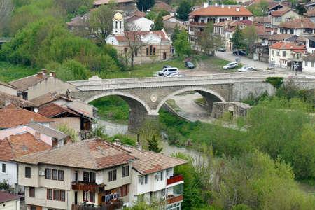 Bridge over the Yantra River, Veliko Tarnovo, Bulgaria Stock Photo