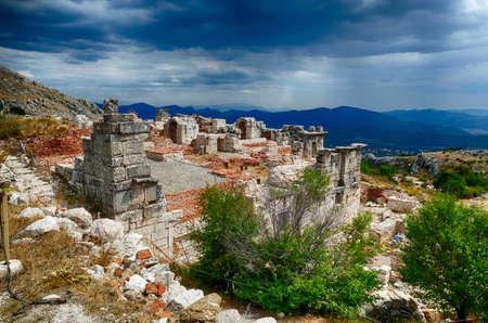 Ruins of Roman baths at Sagalassos, Turkey