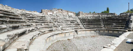 Seats of odeon Boulouterion in Aphrodisias, Turkey Banque d'images