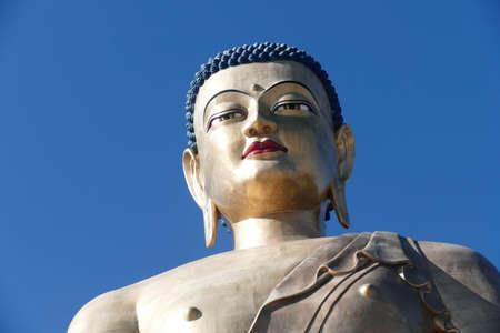 Giant Buddha statue at the Buddha Dordenma temple, Thimphu, Bhutan