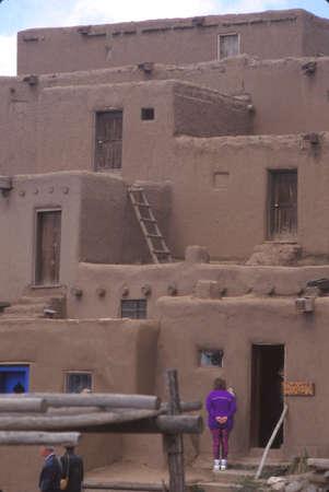 Traditional pueblo village buildings, Taos, New Mexico