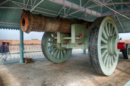 Jaivan monster cannon, largest in the world, Jaigarh Fort, Jaipur, Rajasthan, India