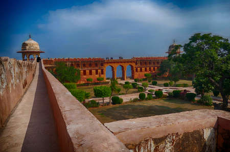 Ramparts of the Jaigarh Fort, Jaipur, Rajasthan, India 報道画像