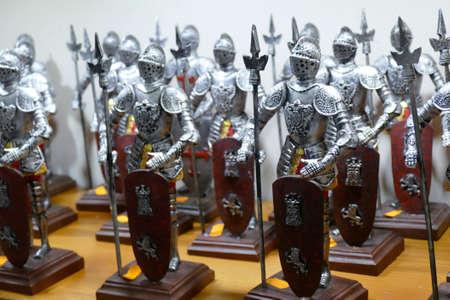 TOLEDO, SPAIN - MAR 2, 2020 -Crusader knights in white tunic, Toledo, Spain Reklamní fotografie