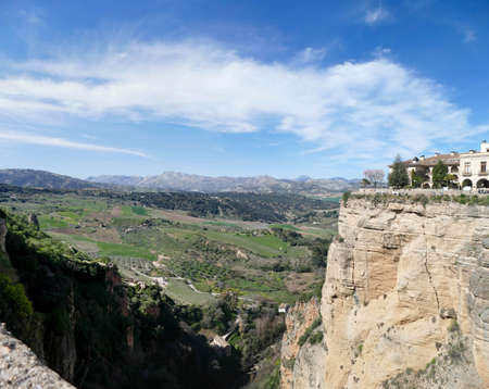 Limestone cliffs of the gorge of Ronda, Andalucia, Spain