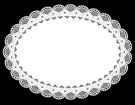 doilies: Alfombrilla Vintage blanco encaje. EPS10.