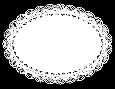 Vintage White Lace Place Mat. EPS10.
