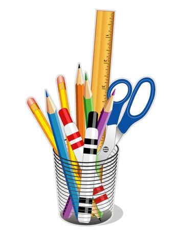 図面を書いて、ビジネス、家庭、学校に戻るためのツールします。EPS10。