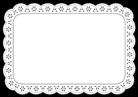 플레이스 매트, 테이블, 케이크 장식, 가정 장식, 행사, 공휴일, 스크랩북, 예술, 공예를 설정 흰색 구멍 레이스 냅킨입니다. 스톡 콘텐츠 - 11059519