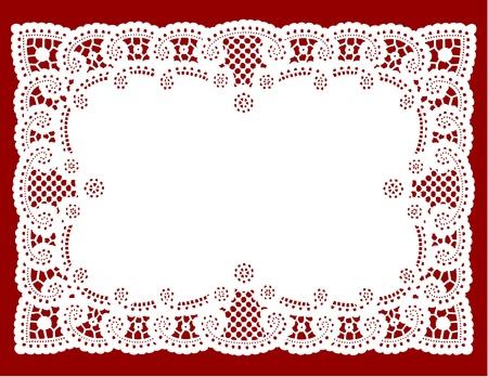 placemat: Lace Vintage Centrino Tovaglietta per la tabella impostazione, feste, celebrazioni, decorazione di una torta, album, arte, artigianato, copia spazio.