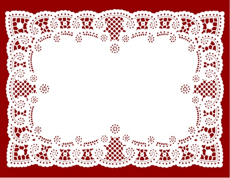 lace pattern: Vintage Lace Doily Placemat for setting table, holidays, celebrations, cake decorating, scrapbooks, arts, crafts, copy space.  Illustration
