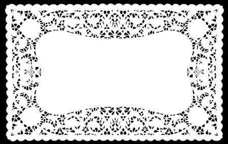 scalloped: Vintage Lace Doily Placemat for setting table, holidays, celebrations, cake decorating, scrapbooks, arts, crafts, copy space.  Illustration