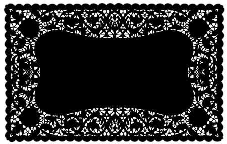 빈티지 패턴 블랙 레이스 냅킨 플레이스 매트 테이블을 설정, 휴일, 축하, 케이크 장식, 스크랩북, 예술, 공예, 공간을 복사합니다.