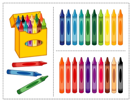 Box of Crayons, 20 colors for home, back to school, art projects, scrapbooks.