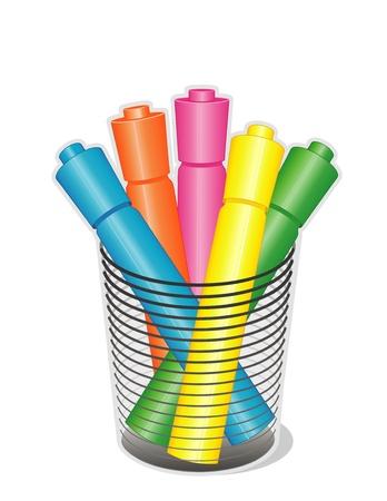 蛍光ペンの種類デスク オーガナイザーでホーム、ビジネス、学校のプロジェクトに戻るため。