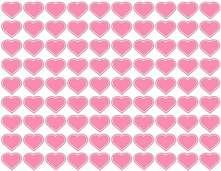 Seamless Background, heart design pattern for Valentines Day, anniversaries, birthdays, holidays, scrapbooks. EPS file includes pattern swatch that will seamlessly fill any shape. Imagens - 11553664