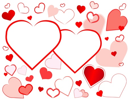 two hearts: Two Hearts Background, copy space for your message or Valentines Day greetings.