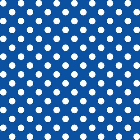 Naadloze Patroon, Grote witte stippen op blauw.