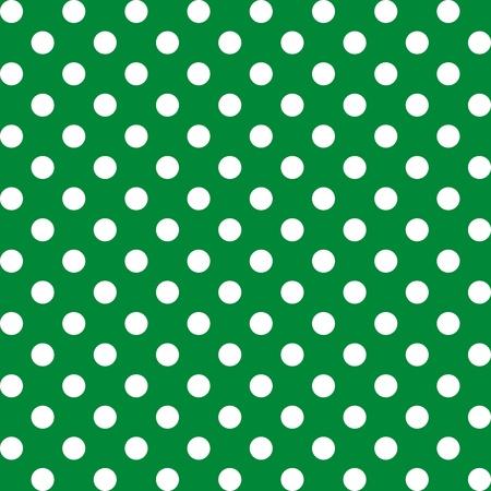 Seamless Pattern, Big White Polka dots on Green.