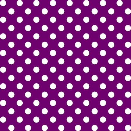 Seamless Pattern, Big White Polka dots on Purple.  Vector