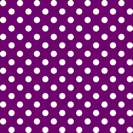 polka dot fabric: Seamless Pattern, Big White Polka dots on Purple.