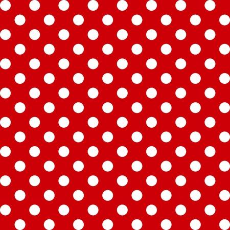 Naadloze Patroon, Grote witte stippen op rood.