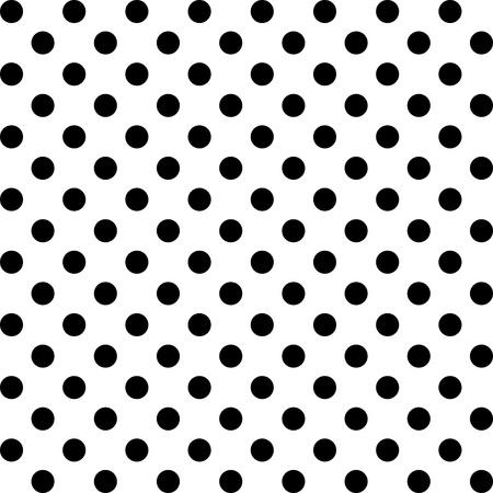 Naadloze Patroon, Big Black Polka dots op White.