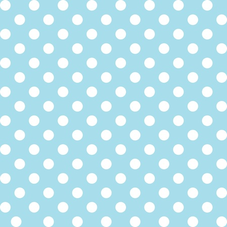 Seamless pattern, big white polka dots, pastel aqua background. includes pattern swatch that will seamlessly fill any shape. For arts, crafts, fabrics, decorating, albums, scrapbooks. Vector