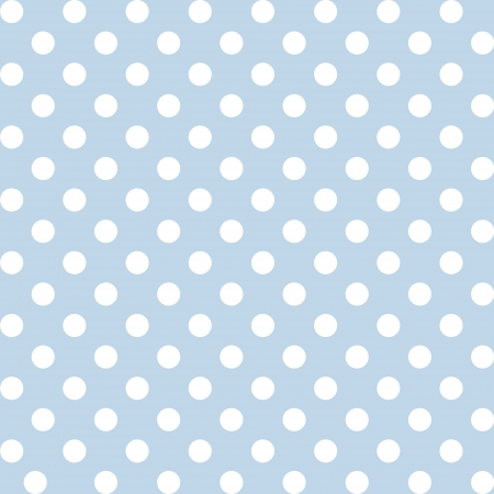 Seamless pattern, big white polka dots, pastel blue background. includes pattern swatch that will seamlessly fill any shape. For arts, crafts, fabrics, decorating, albums, scrapbooks. Vector