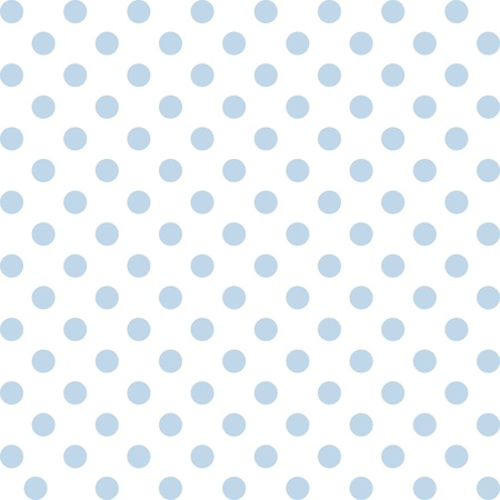 Seamless pattern, pastel blue polka dots, white background.  includes pattern swatch that will seamlessly fill any shape. For arts, crafts, fabrics, decorating, albums, scrapbooks. Illusztráció