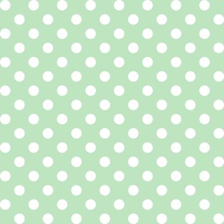 Patrón sin fisuras, grandes lunares blancos, de fondo color verde pastel. incluye muestra de motivo a la perfección que llenará cualquier forma. Para las artes, artesanías, tejidos, decoración, álbumes, libros de recuerdos. Foto de archivo - 12034813