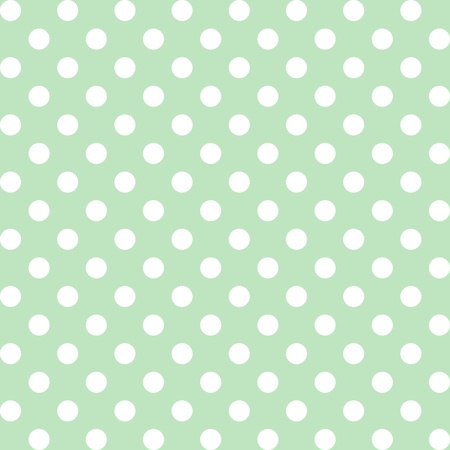 Seamless pattern, big white polka dots, pastel green background. includes pattern swatch that will seamlessly fill any shape. For arts, crafts, fabrics, decorating, albums, scrapbooks. Vector