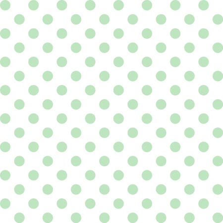 repetition dotted row: Seamless pattern, pastel green polka dots, white background.   includes pattern swatch that will seamlessly fill any shape. For arts, crafts, fabrics, decorating, albums, scrapbooks. Illustration