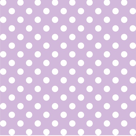 Seamless pattern, big white polka dots, pastel lavender background. includes pattern swatch that will seamlessly fill any shape. For arts, crafts, fabrics, decorating, albums, scrapbooks. Vector