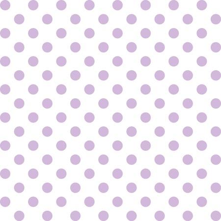 spachteln: Nahtlose Muster, Pastell Lavendel Polka Dots, wei�en Hintergrund. enth�lt Muster-Farbfeld, das sich nahtlos f�llen wird eine beliebige Form. F�r Kunst, Kunsthandwerk, Stoffe, Dekorieren, Alben, Sammelalben.
