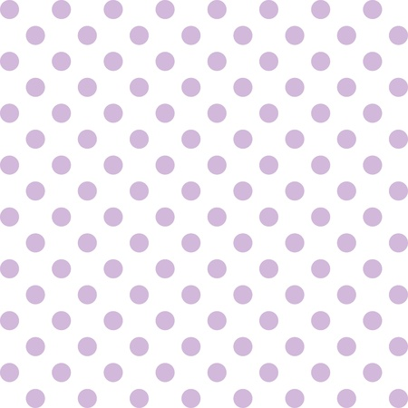 Seamless pattern, pastel lavender polka dots, white background. includes pattern swatch that will seamlessly fill any shape. For arts, crafts, fabrics, decorating, albums, scrapbooks. Vector